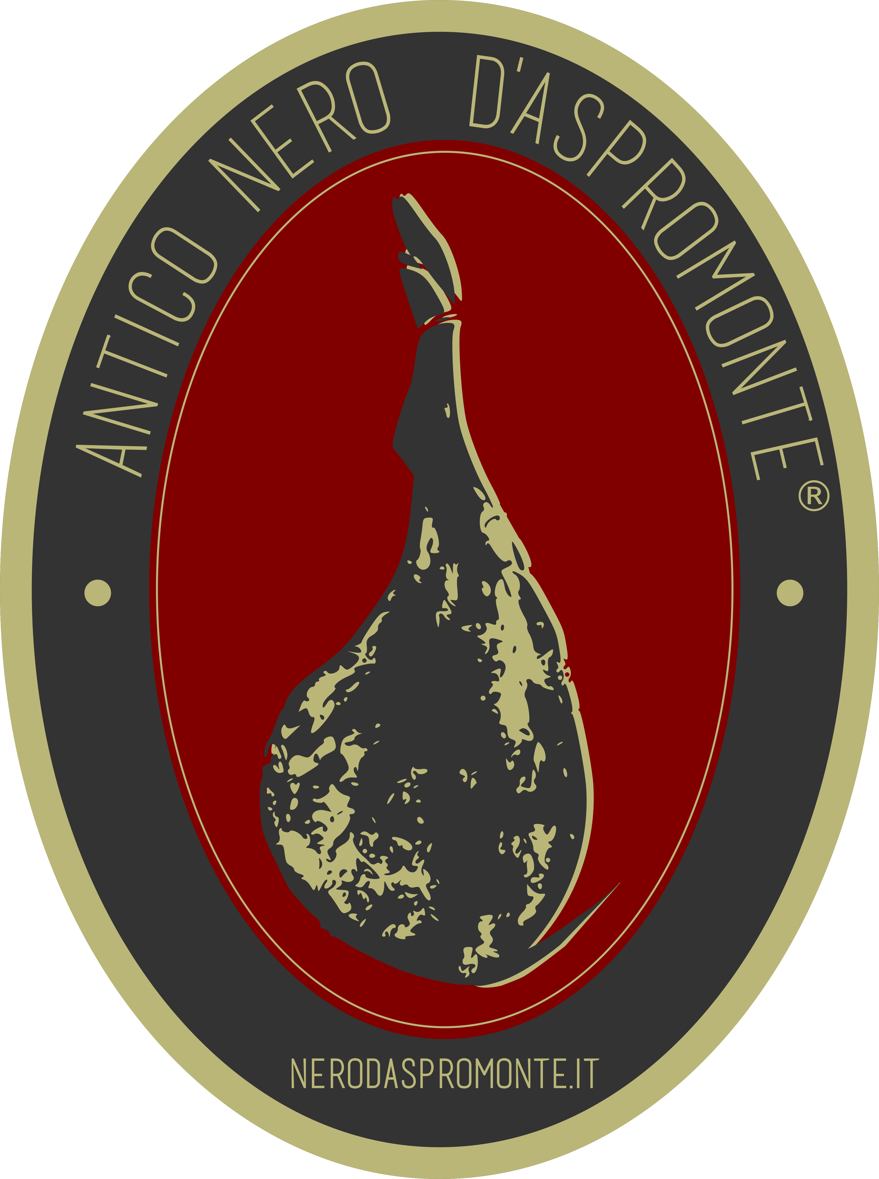 Logo antico nero d