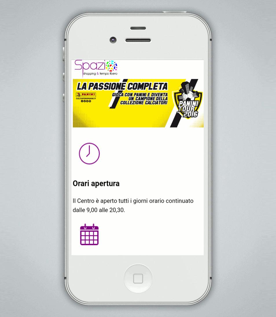 Versione responsive sito interntet Spazio